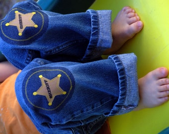 Sheriff Applique Iron On Knee Patch For Children