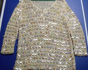 Vintage  Ging Lee Hand Knitted Sweater Hong Kong
