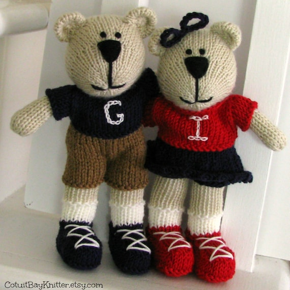 Knitted Teddy Bear - Personalized Toy - Custom Toy - Small Toy - Hand Knitted Bear - Stuff Animal - Kids Toy - Personalized - Plush Bear
