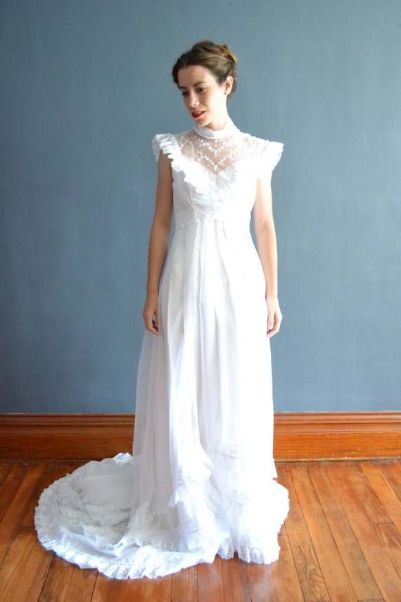 sale 70s wedding dress 1970s wedding dress by