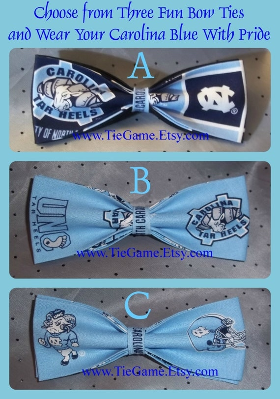 BowTies Made From North Carolina University Fabric - Support Your Tar Heels by wearing One of These Great Bow Ties - U.S. SHIPPING ONLY 1.49