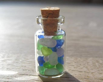 Genuine Sea Glass Vial of Tiny Seaglass - Gift for Sea Glass Lover