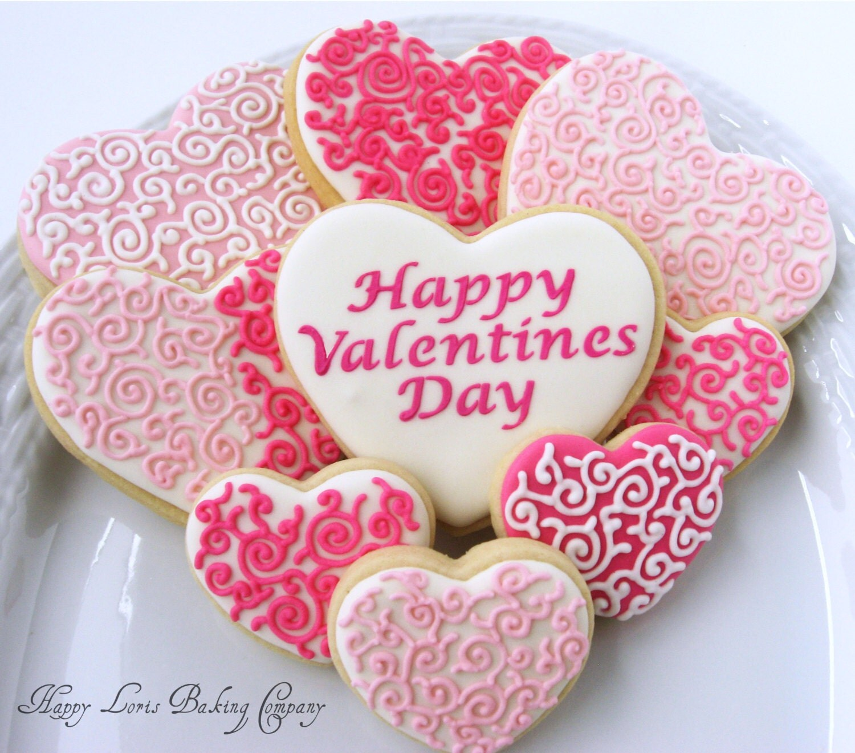 Heart Sugar Cookie Clip Art Valentine's day cookies