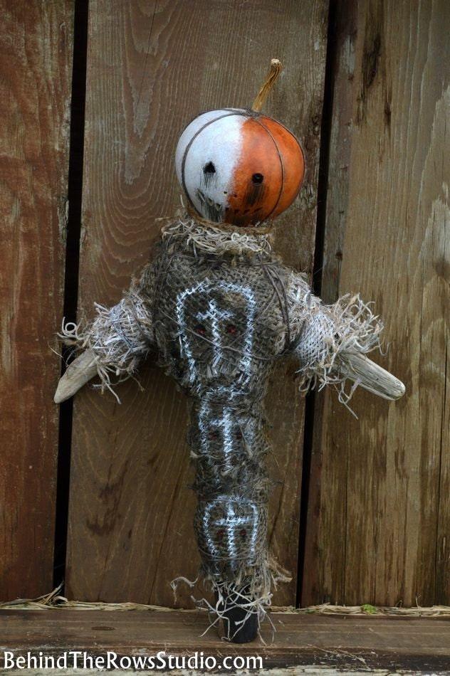 Voodoo Doll Folk Art by BehindTheRowsStudio on Etsy