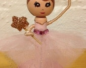 Ballerina Cake Topper. Party Decor. Clothespin Doll. Princess Cake Topper. Princess Party.