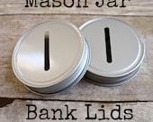 Mason Jar Bank Lids w/ Coin Slot