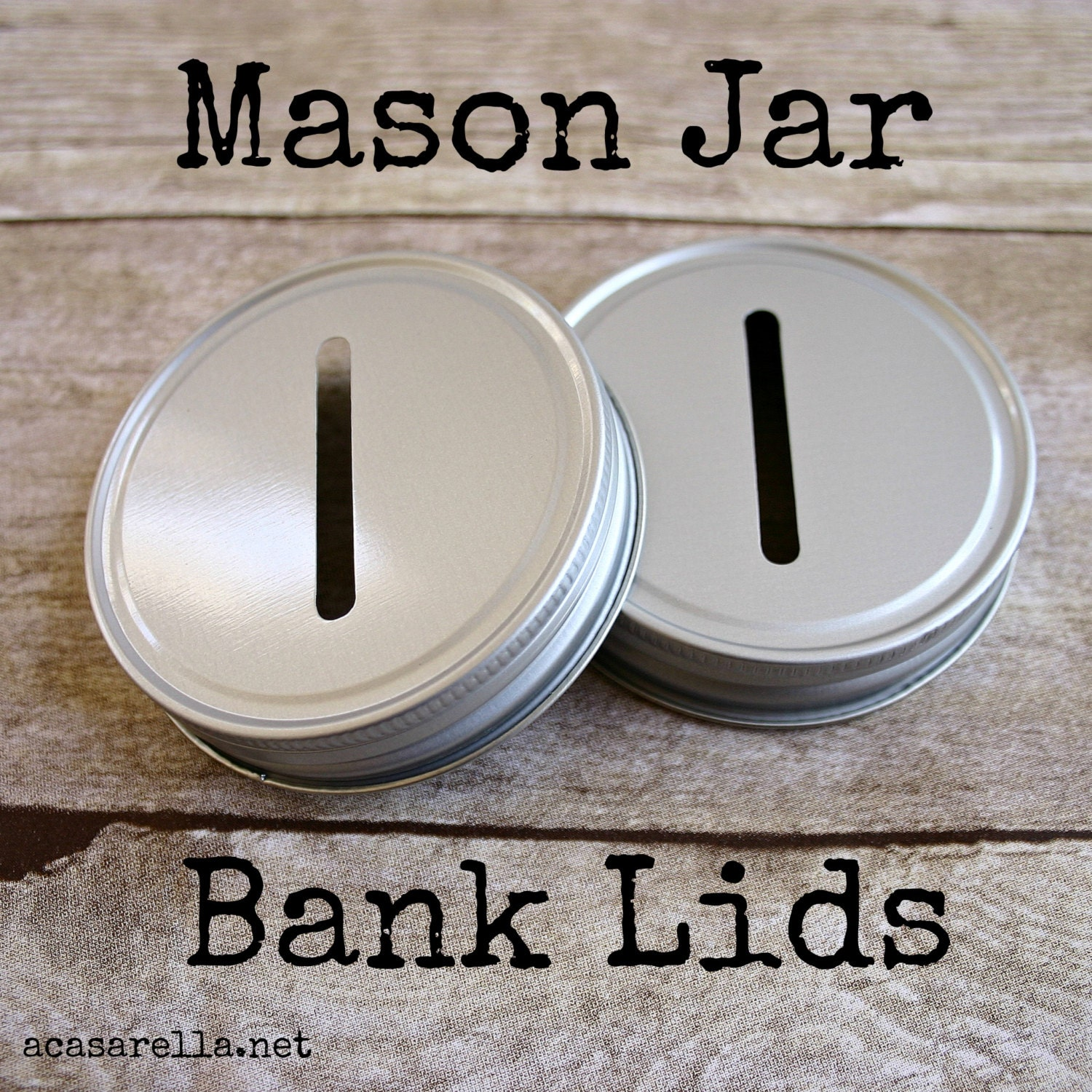 Mason jar bank lids w coin slot for How to make a piggy bank you can t open