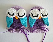 baby scratch mitts owl crochet