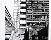 London - Trellick Tower - limited edition screenprint
