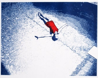 Diver - limited edition screenprint