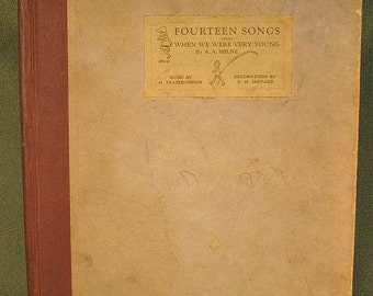 When We Were Very Young Songbook by A.A. Milne, 1925, Original Winnie the Pooh and Christopher Robin