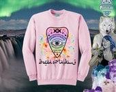 BORED OF TALKING Kawaii Ouija Board Planchette Sweatshirt // Pastel Goth // Pastel Grunge // fASHLIN