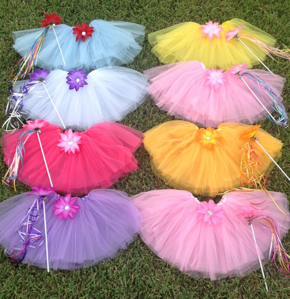 8 My Little Pony Party Favors Halos, Tutus and wands, My Little Pony Birthday Favors Tutus, My Little Pony Party Favors