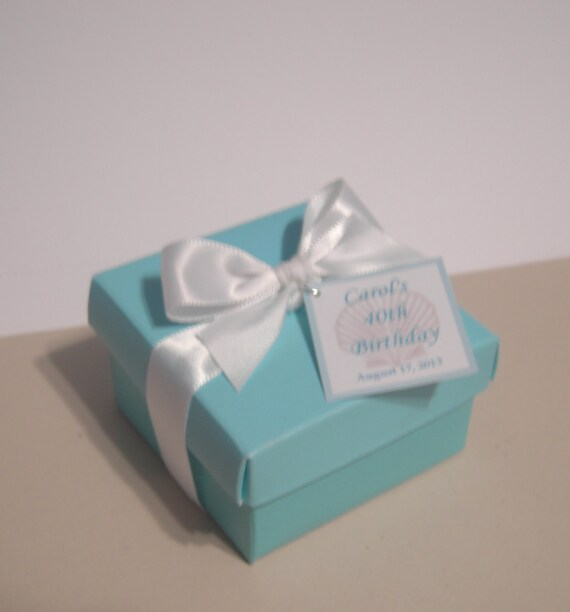 Beach Wedding Or Party Favor Box With Chocolate By Idofavors