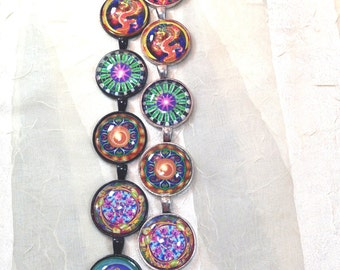 Domed Mandala Necklaces Handmade Jewelry