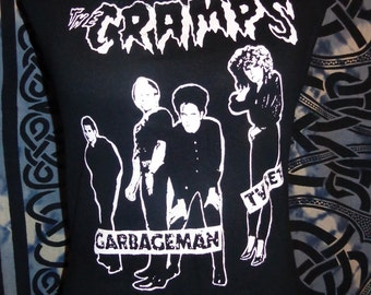Ladies DIY handmade THE CRAMPS band shirt halter top available in many sizes American Punk Rock Grunge