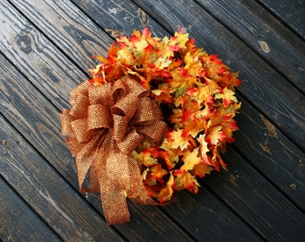 Fall Wreath, Fall Leaf Wreath