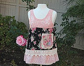 Shabby Chic Shirt | Upcycled Clothing | ltered Shirt | Mori Girl Woodland Fairy Clothes | Garden Party