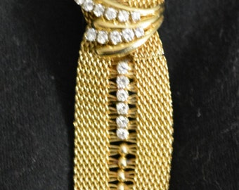 14k Gold 1.29ctw Diamond Bracelet Watch 60.96g- Must See - Beautiful