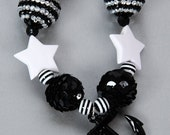 Sale Free US shipping Necklace Chunky Nautical Anchor Black and White Chunky Specialty Beads LIMITED QUANTITY Item