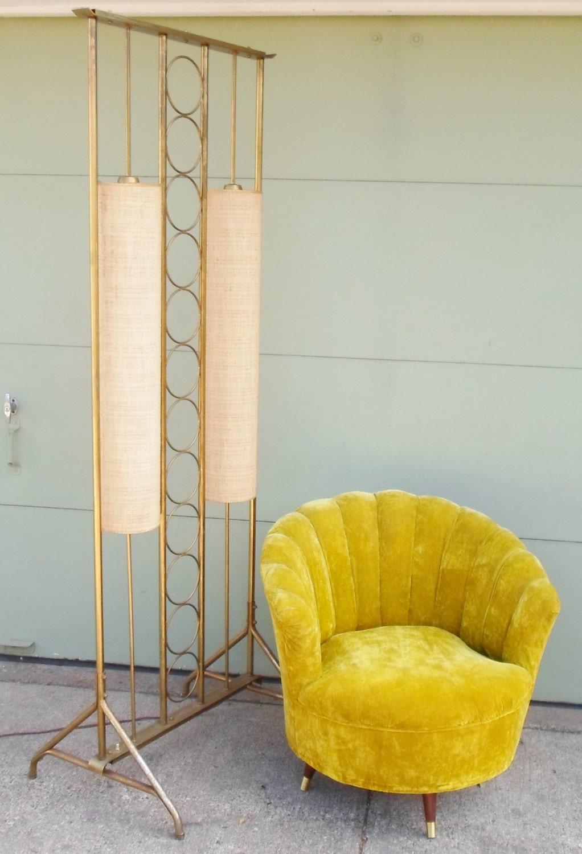 vintage mid century modern floor lamp room divider pole. Black Bedroom Furniture Sets. Home Design Ideas
