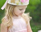Bunny Rabbit Felt Crown, Blossoms, Birthday, Dress Up, Easter