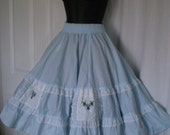 On sale/special COUNTRY GIRL  Vintage Square Dancing Clogging Promenade Full Skirt Blue Size Large
