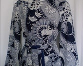 PAISLEY PRINCESS Vintage Mod Paisley Dress Belled Sleeves