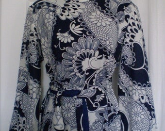 PAISLEY PRINCESS Vintage Mod Paisley Dress Belled Sleeves