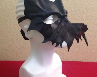 Handmade Leather Dragon Mask