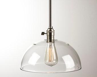 Pendant Light Fixture - Edison Bulb - Dome