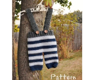 Crochet newborn pants pattern