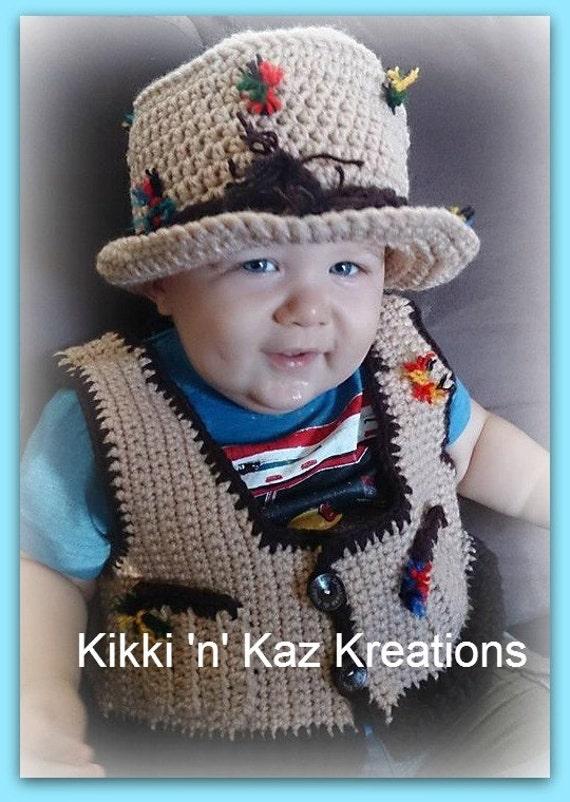 Toddler fishing hat and vest for Toddler fishing vest