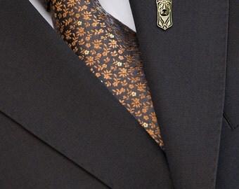 Doberman brooch - Gold