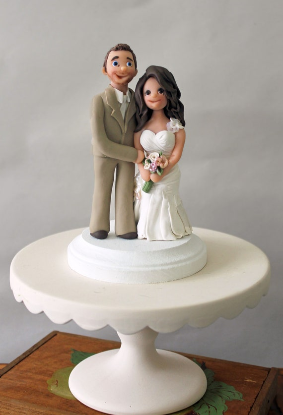 Customized Wedding Cake Toppers Traditional By CherryRedToppers