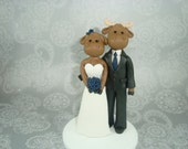 Personalized Moose Wedding Cake Topper