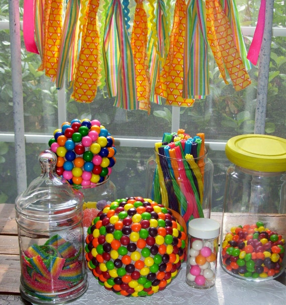 Candy Theme Decorations Candy Land Party Decor By Jennasgarden