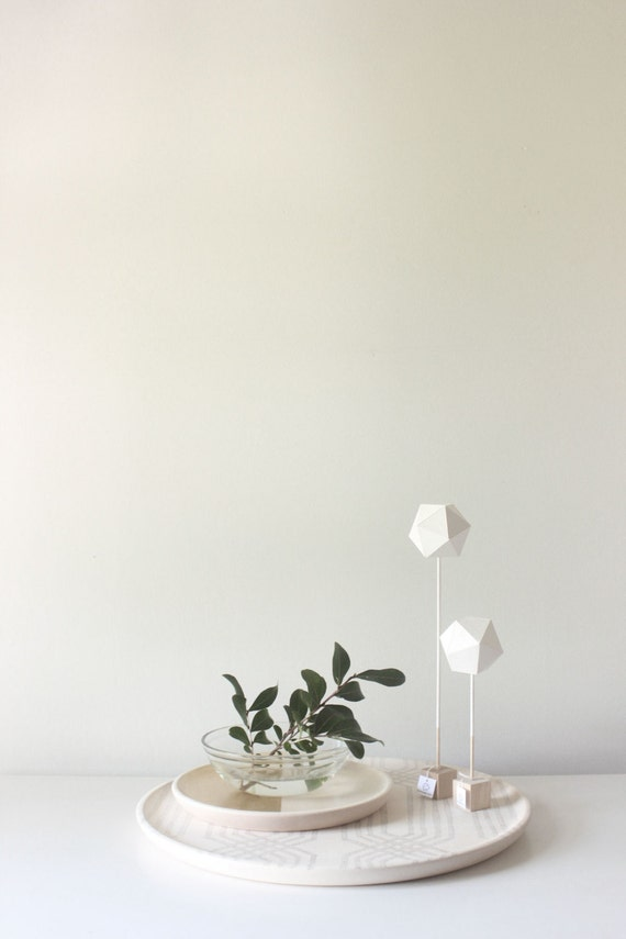 Paper Sculptures Set of Two, NATURAL