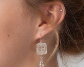 Raw Quartz Earrings-Quart...
