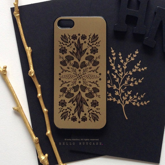 black and gold iphone 5s case iphone 5 gold metallic iphone 5s black floral 1209