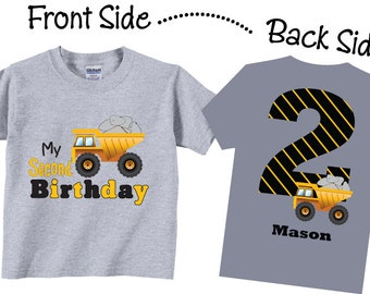 2nd Birthday Shirts for Boys with Dumptruck Tees