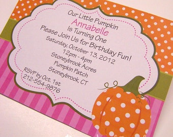 Pumpkin Invitation Pumpkin Birthday Invitation Pumpkin Invite Pumpkin Party Little Pumpkin Fall Party Printable Girl Pumpkin Invitation