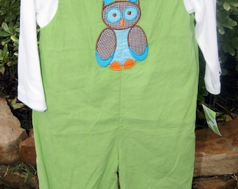 Green Corduroy Owl Longall