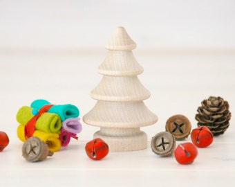 5 Wooden Christmas Trees - Unfinished Wooden Tree - Set of 5 wooden tress - DIY Crafts