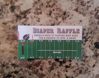 Printable Football Diaper Raffle Tickets Style B