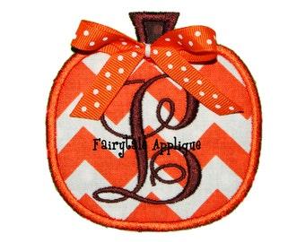 Digital Machine Embroidery Design - Pumpkin 2 Applique