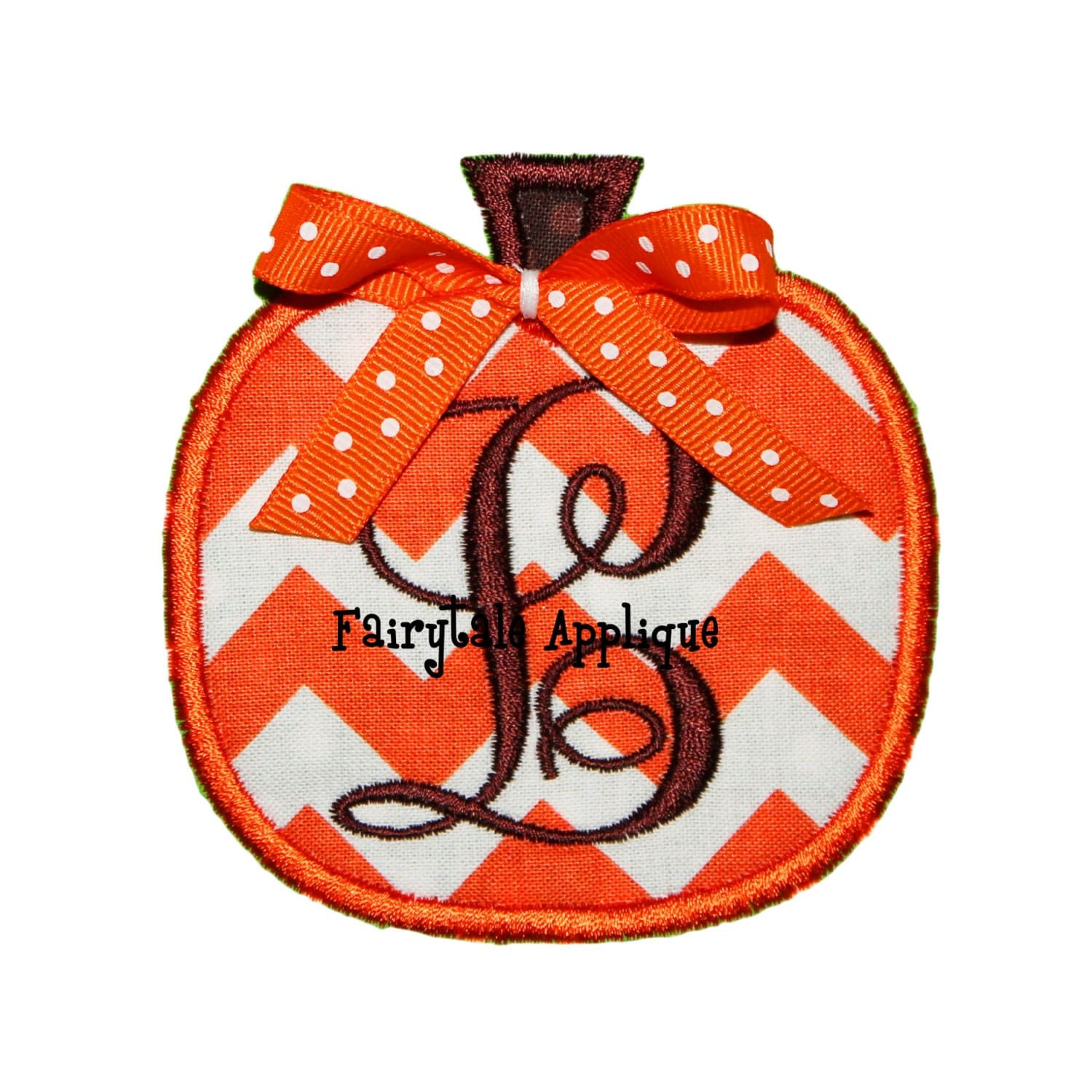 Digital machine embroidery design pumpkin applique