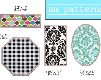 Machine Embroidery Design - Applique Shapes Pack 4