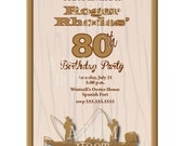 Outdoor Woods Fishing Invitation (Personalized, DIY, 5X7 Printable) Can be changed for any age