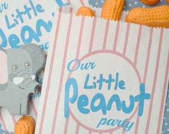 Peanut Baby Shower Favor Bags: 20 Personalized Little Peanut Favor Bags